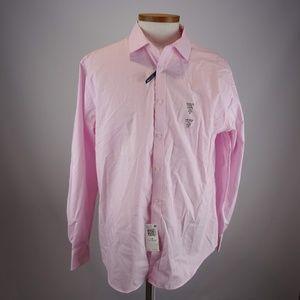 Tommy Hilfiger Men's Pink Long Sleeve Dress Shirt
